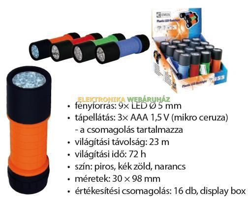 JDP-8557 9 LED rúdlámpa