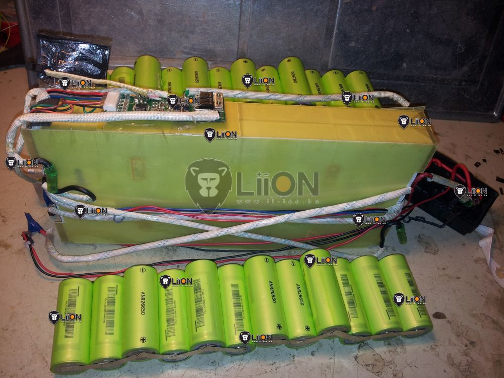 24V LiFePO4 bicikli akku felújítás