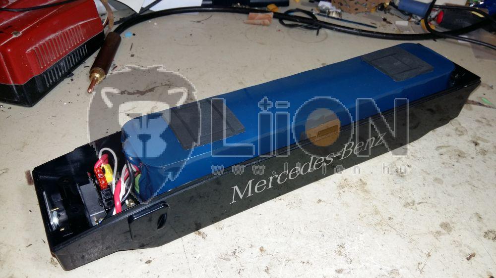 Mercedes Benz Hibrid bike akku újracellázás