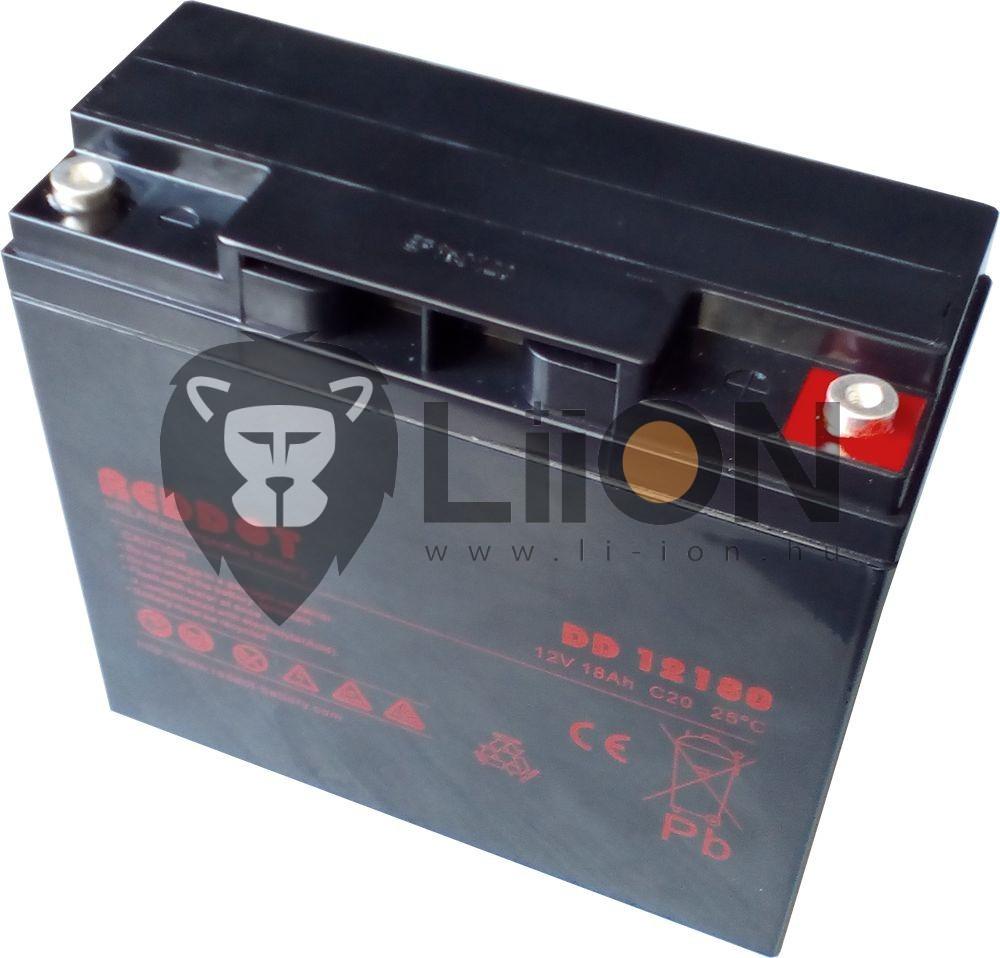 Reddot 12V 18Ah ólom zselés akkumulátor
