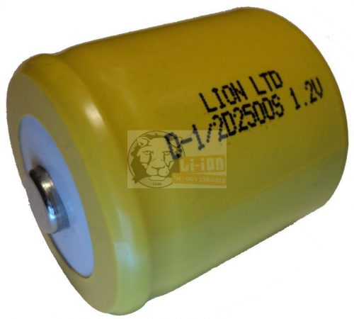1/2 baterie de celule D în 2500