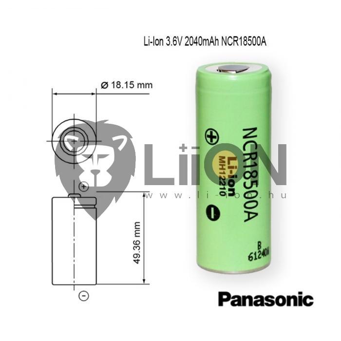 Li-Ion ICR 18500 3,7 V celule 1400mAh baterie industrial