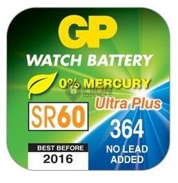 GP SR60 ezüst-oxid gombelem