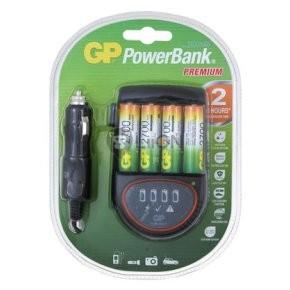 GP PB50 PowerBank + 4db 2100mah AA ReCyko akku