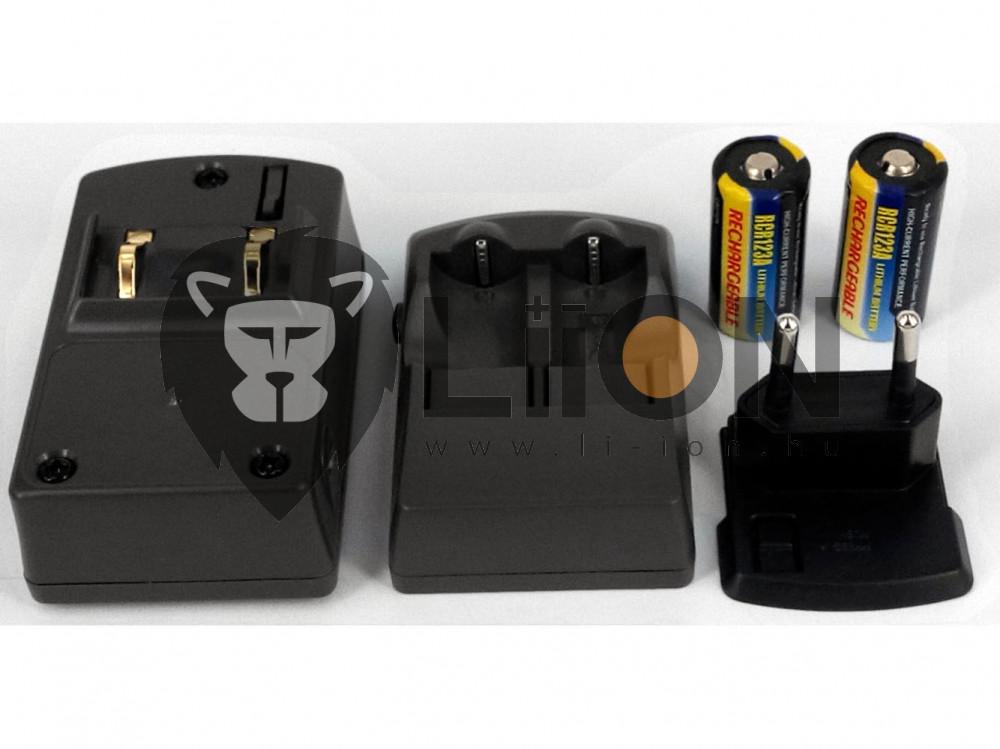 CR123A akkumulátor töltő