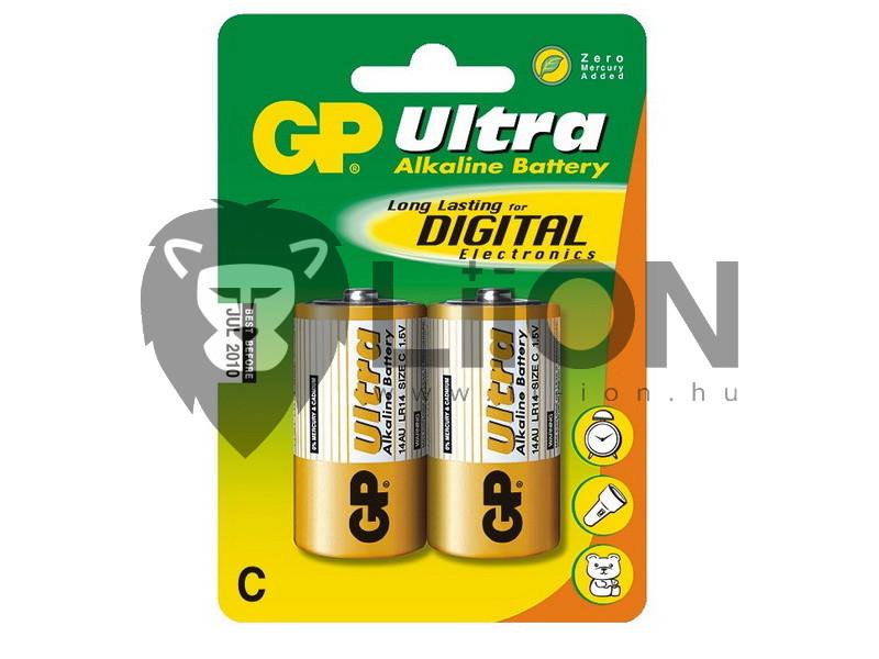 GP Ultra alkáli baby elem 14AU