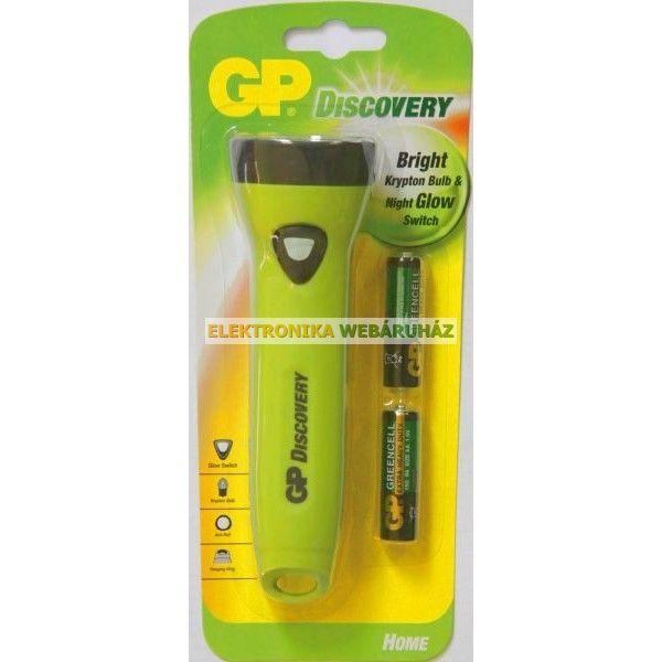 GP kripton elemlámpa L071+ 2 x AA GP Greencell elem