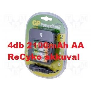 GP PowerBank PB550 töltő + 4db 2100mAh AA ReCyko akku