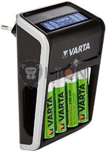VARTA LCD Plug Charger + 4db 2100AA akku