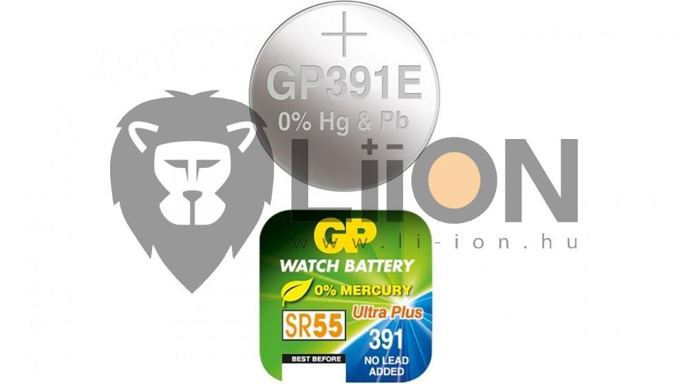 GP SR55 ezüst-oxid gombelem
