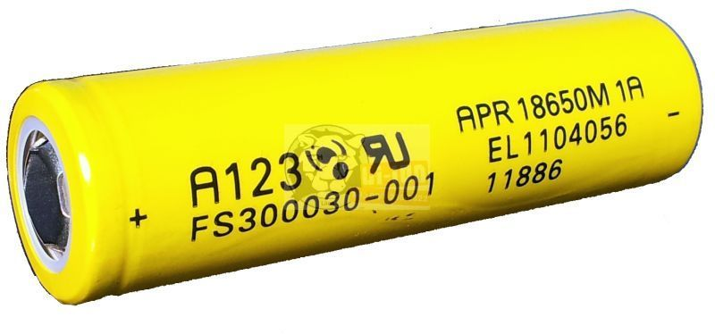 LiFePO4 APR18650 3,3 V baterie 1100mAh